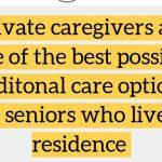 caregivers in senior residence