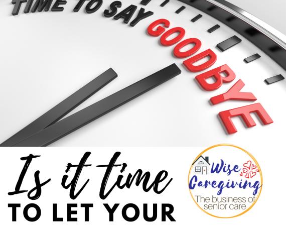 time to let senior client go