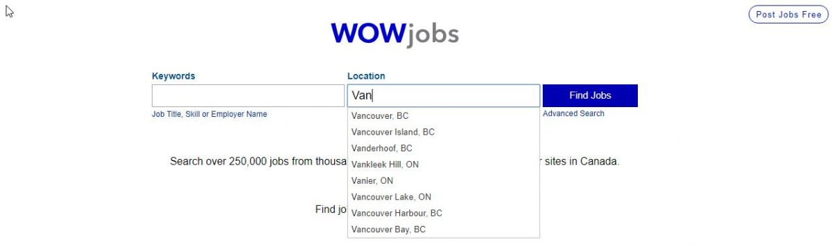wowjobs.ca-free posting