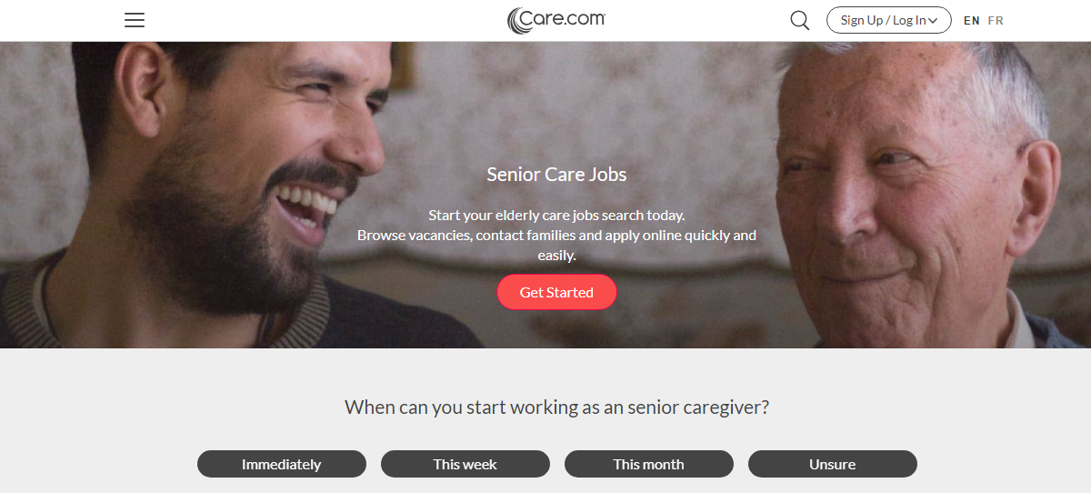 care.com-caregiver job