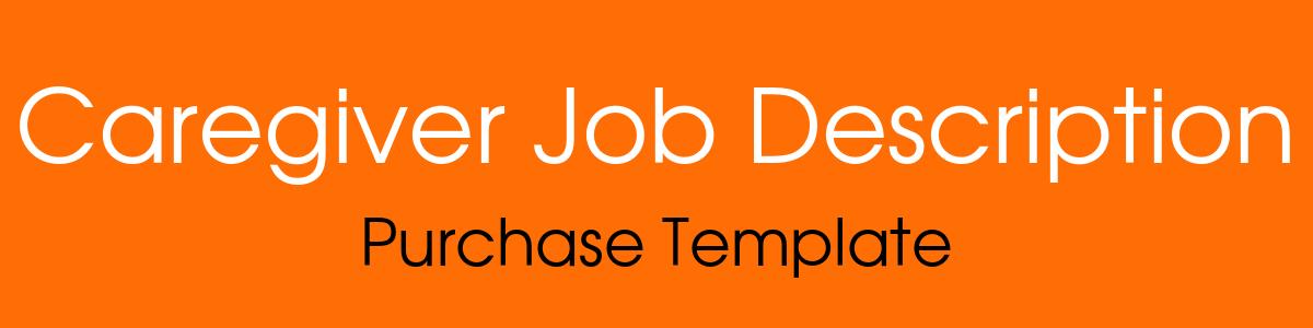 caregiver job description template