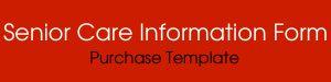 senior care information form template