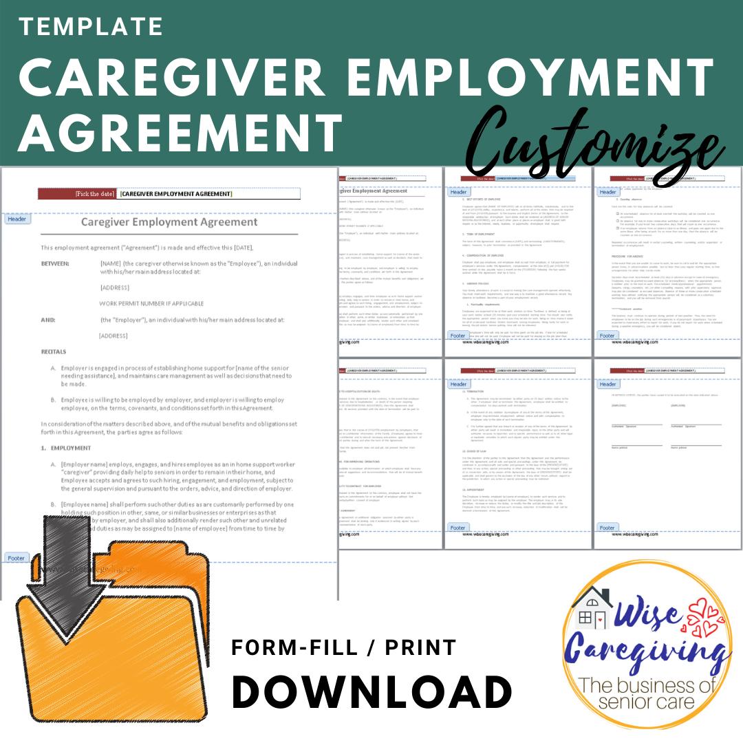 caregiver employment agreement template
