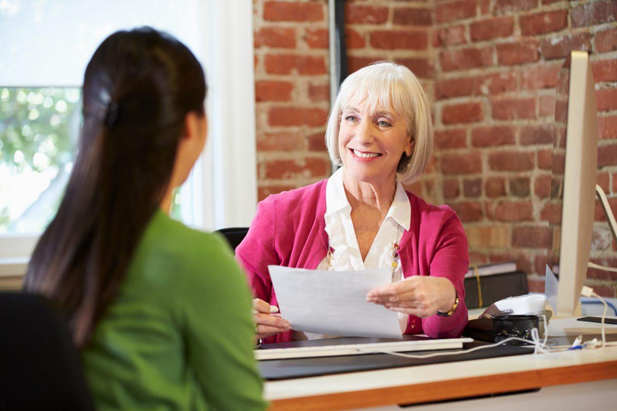 family member interviews caregiver