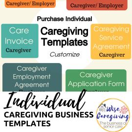 Individual caregiving templates
