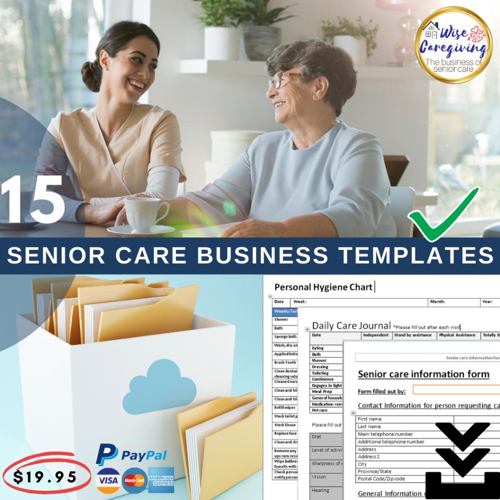 15 senior care business templates-wise caregiving