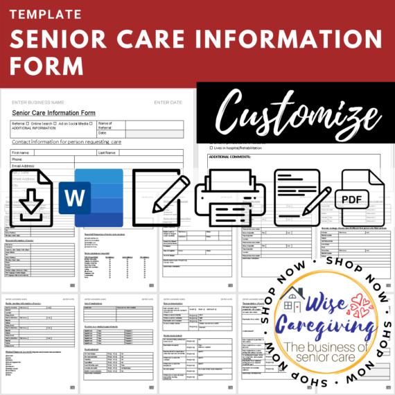 senior care information form