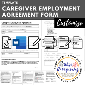 caregiver employment agreement form template-wisecaregiving
