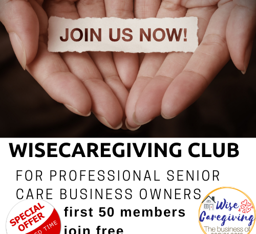 join free-wisecaregiving club logo