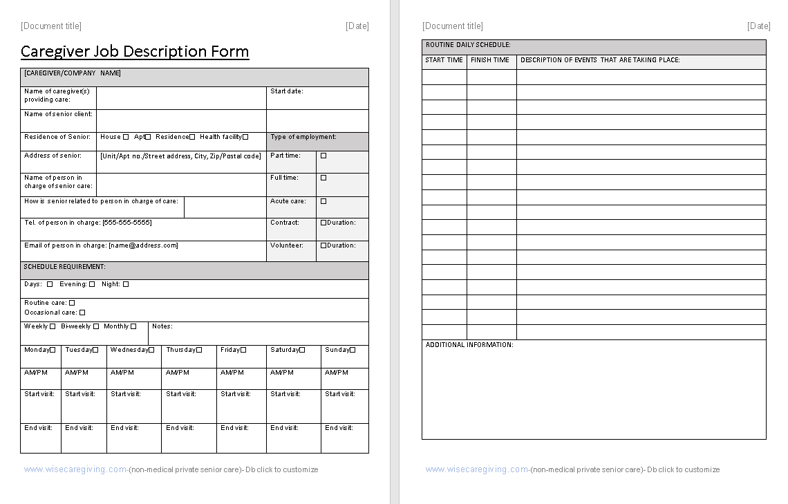 Caregiver Job Description Form Template-preview-zoom