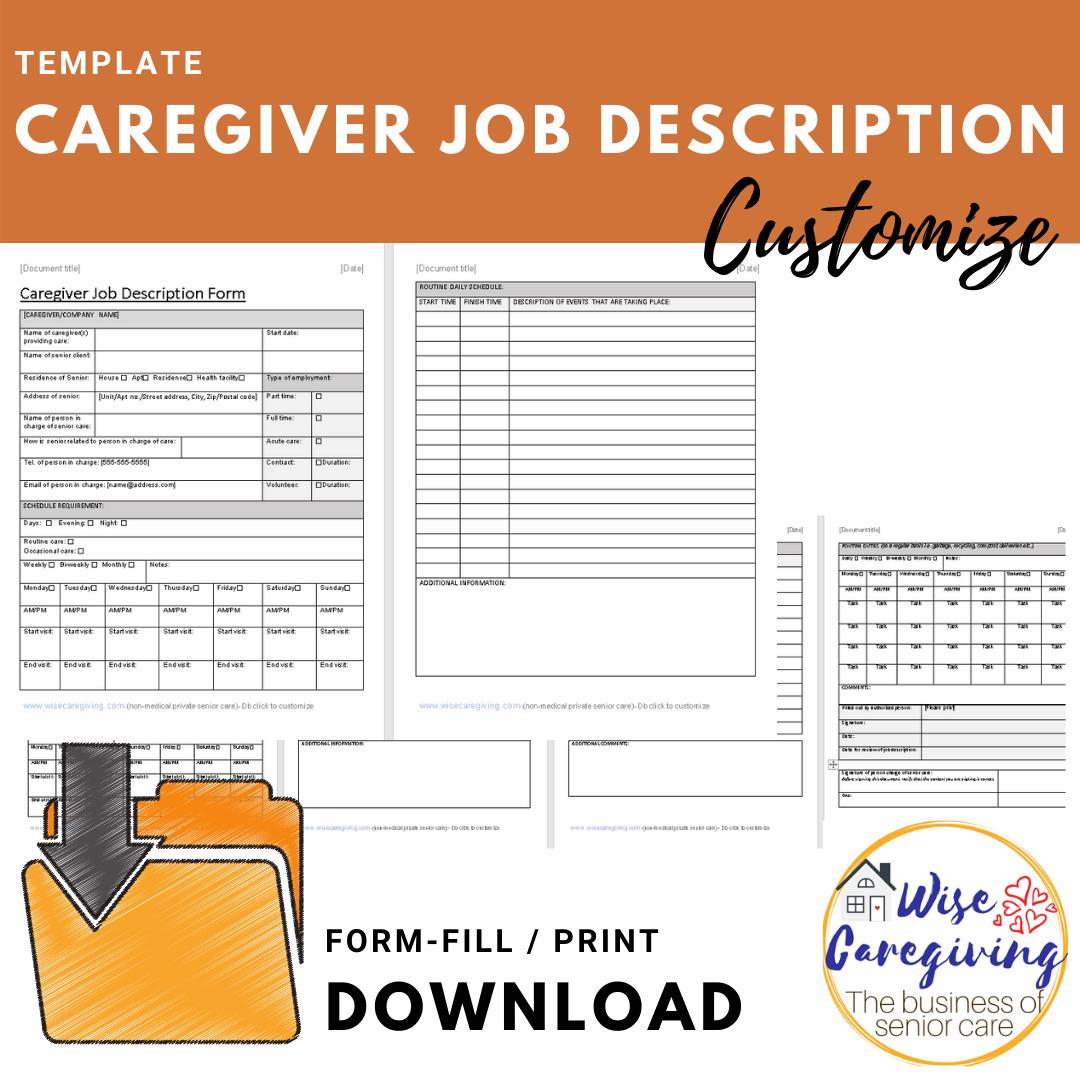 Job Description Form Template from www.wisecaregiving.com