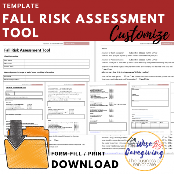 Fall risk assessment tool template - download and customize