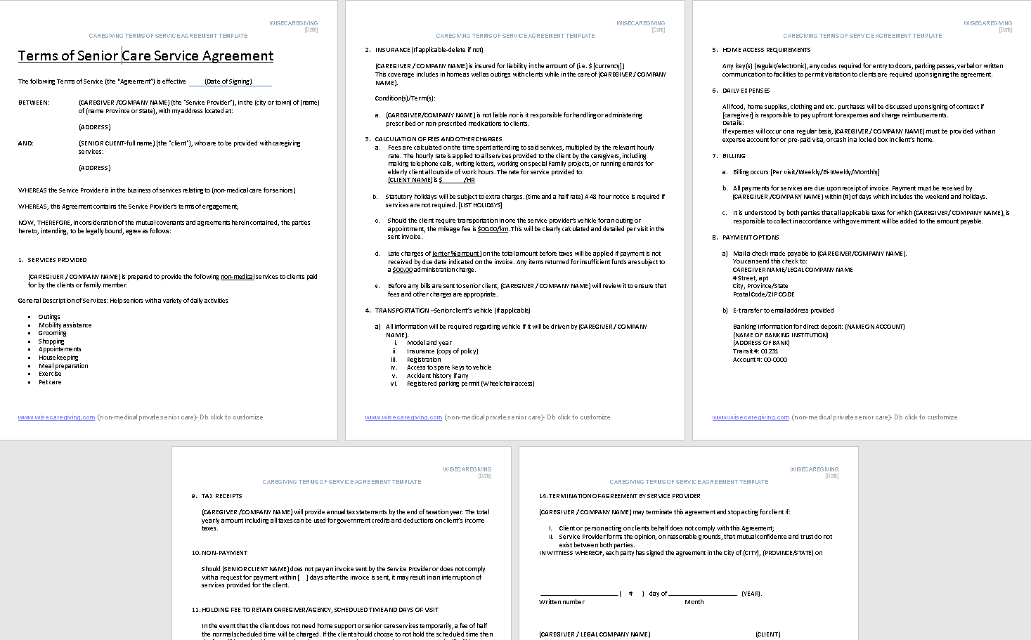 Terms of Senior Care Service Agreement Template-preview-zoom