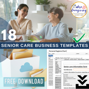 senior care business templates-free with purchase-wise caregiving