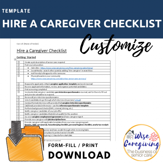 Hire a caregiver checklist template-wise caregiving