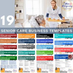 senior care business templates-wise caregiving-for purchase