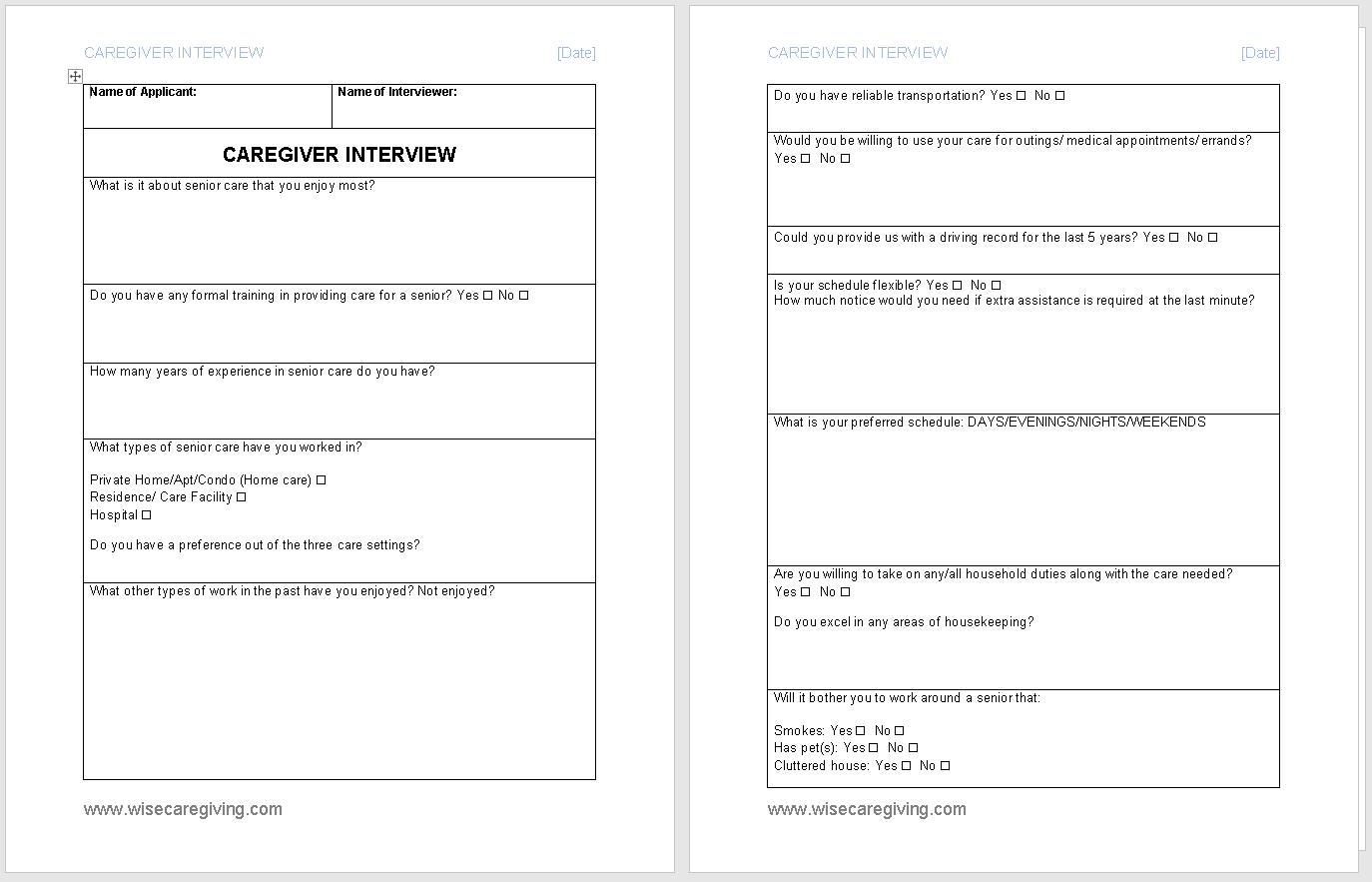 Caregiver Interview Questionnaire-Wise Caregiving.docx - Word