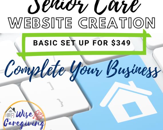 Create your senior care website
