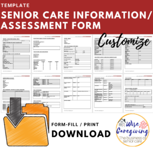 senior care information-assessment template