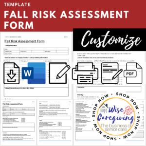 Fall risk assessment form template