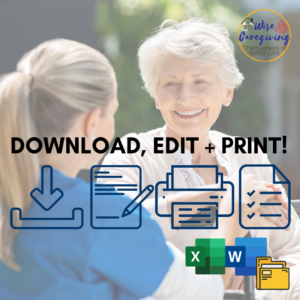 Senior Care Templates-Instruction-wise caregiving