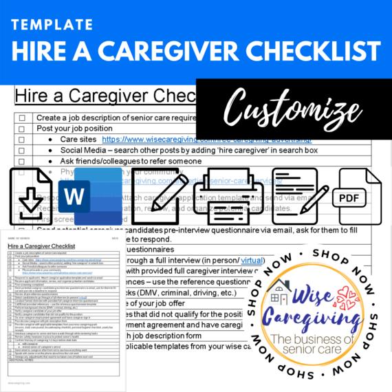 hire a caregiver checklist template