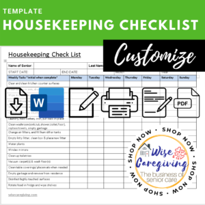 housekeeping checklist template
