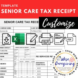 tax receipt for senior care service template