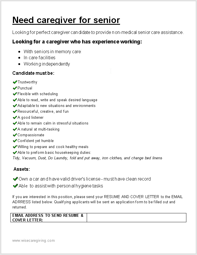 Need caregiver post-wise caregiving.docx