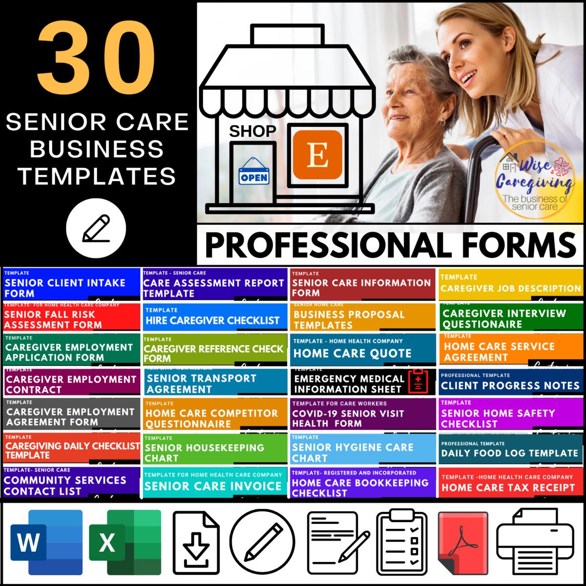 senior care templates