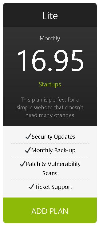 lite website plan