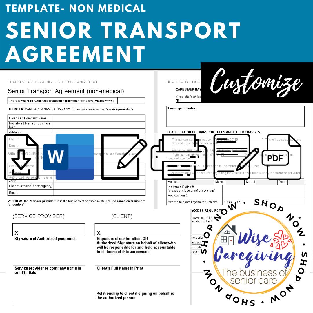 senior transport agreement -non medical template-wise caregiving (1)