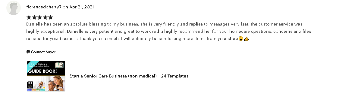 Home Health Care Business Forms review
