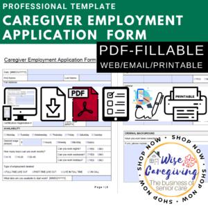 caregiver employment application-pdf fillable form- HYBRID-digital and printable template (2)