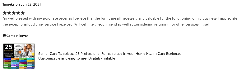 REVIEW-senior care business template