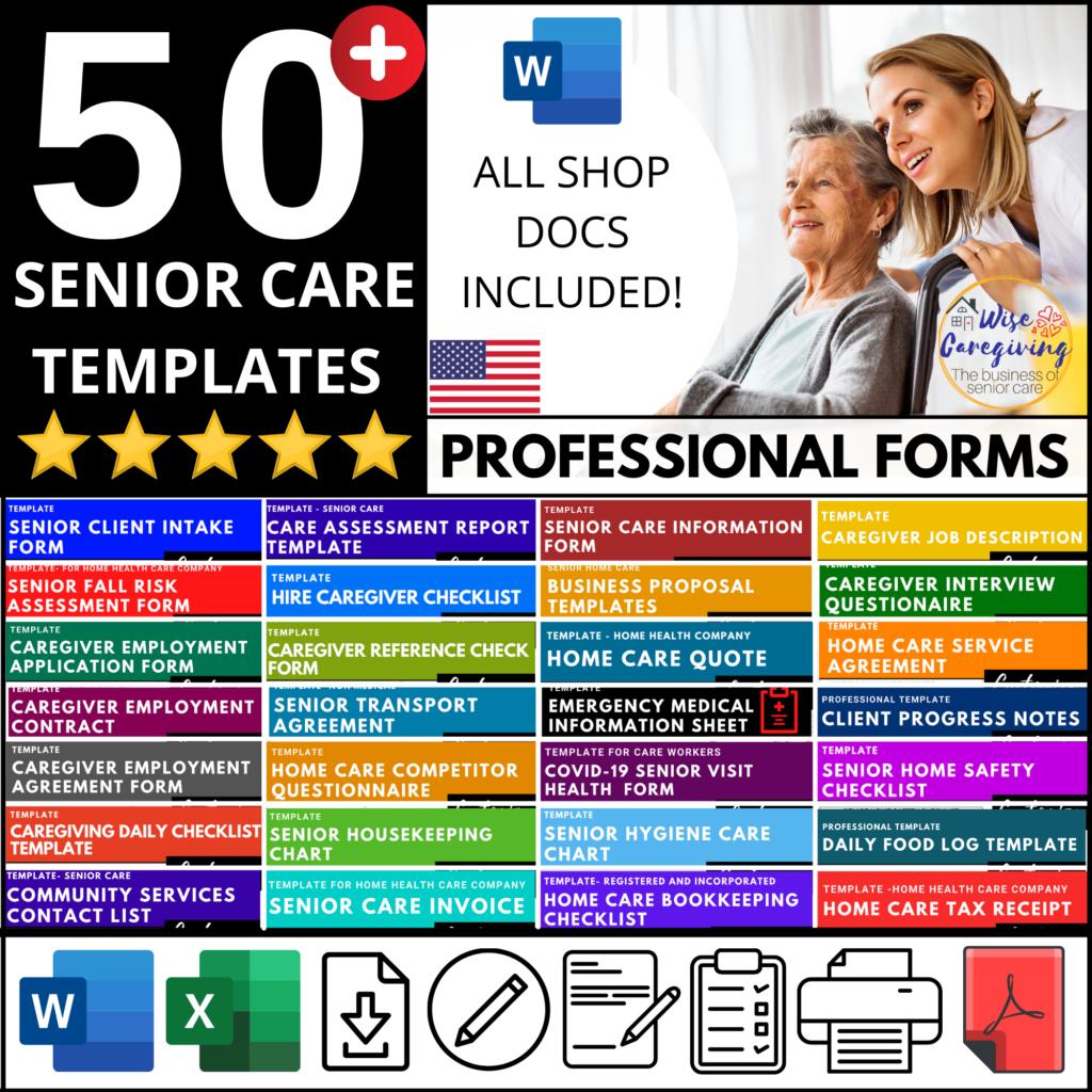Senior Care Business Templates-wise caregiving (2)